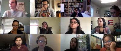 Image of video conference of members from Shade Research Collective.